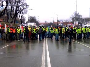 Protest rybaków na Trakcie Św. Wojciecha