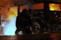 Płonący hummer