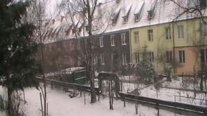 Gdańsk-Wrzeszcz, zima zaczyna się na całego