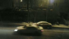 Śnieg na ul. Krasickiego w Gdyni