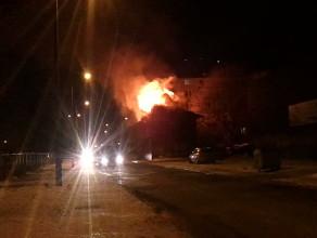 Pożar przy ulicy Św. Barbary