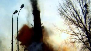 Saperzy wyburzyli komin parowozowni