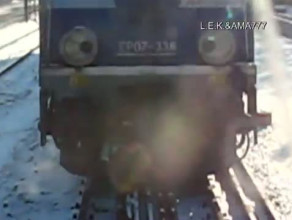 Rozerwany pociąg nieopodal stacji Sopot