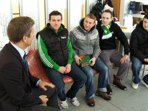 Wizyta irlandzkich kibiców w Sopocie