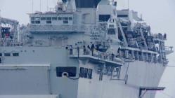 Okręt Royal Navy w Gdyni