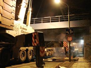Montaż wiaduktu w Sopocie