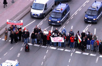 Protest przeciwko ACTA w centrum Gdańska