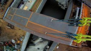 Nowy most zwodzony w Przegalinie