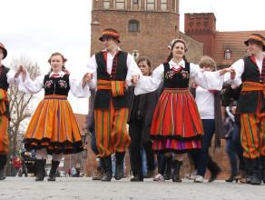 Polonez Maturzystów na Targu Węglowym