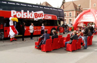 Dwupiętrowe pojazdy linii Polski Bus