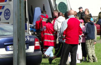 Interwencja pogotowia po wypadku na Gdańskich Dniach Sąsiadów