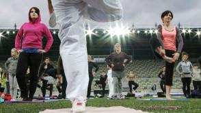 Stadionowa joga z gdyńskimi sportowcami