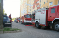 07.05.12 - pożar mieszkania na Gdańskiej Zaspie ul. Żwirki i Wigury 3