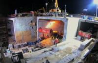 Przepychają tunel pod torami kolejowymi