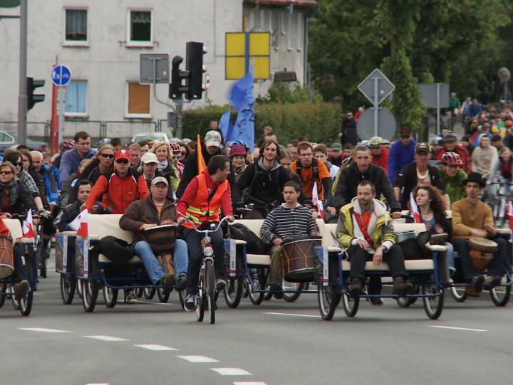 Wielki przejazd rowerowy co roku gromadzi tysiące rowerzystów.