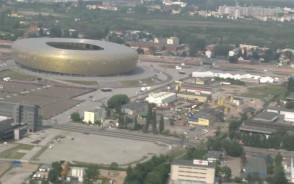 Policyjny śmigłowiec patroluje Gdańsk