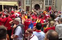 Hiszpanie bawią się przed meczem