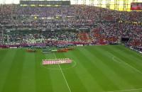Hiszpanie śpiewają Hymn przed meczem w Gdańsku