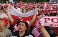 Kibice wierzyli w dobry wynik w meczu z Rosją