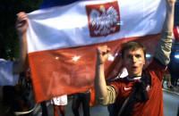 Radość po meczu Polska - Rosja