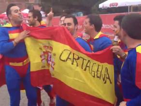 Hiszpańscy supermeni na Targu Węglowym