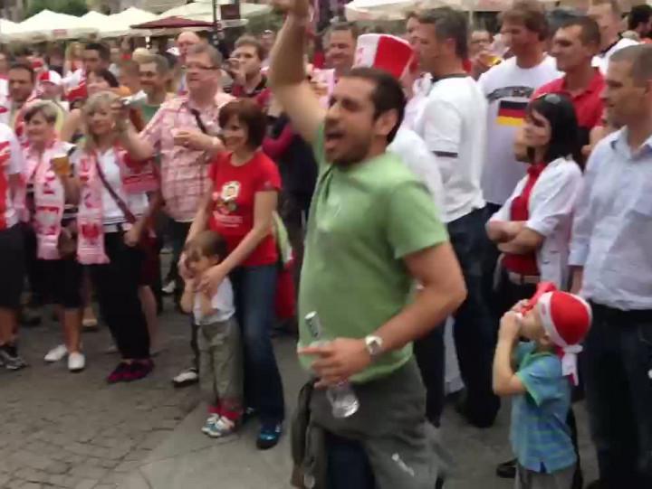 Tak kibice bawili się wGdańsku przed meczem