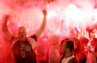 Kibice hucznie żegnają Polskę w Euro 2012 na ulicach Gdańska