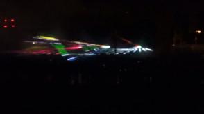 Pokaz laserów w Strefie Kibica