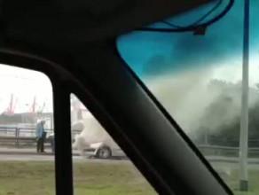 Pożar auta na ul. Janka Wiśniewskiego w Gdyni