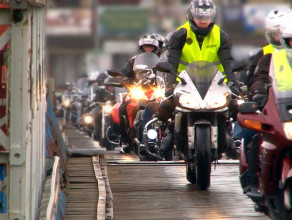 Zlot motocyklistów na Wyspie Sobieszewskiej