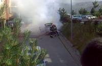 Spłonął samochód na Łostowicach