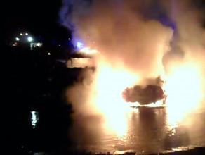 Pożar samochodówGdańsk  Oliwa akcja gaszenia