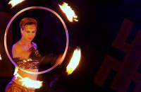 Pokazy ognia na Festiwalu FROG