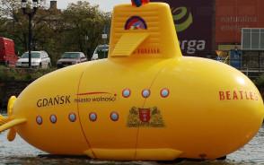 Żółta łódź podwodna wpłynęła do Gdańska