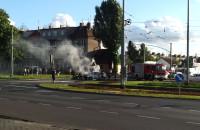 Pożar samochodu koło ETC