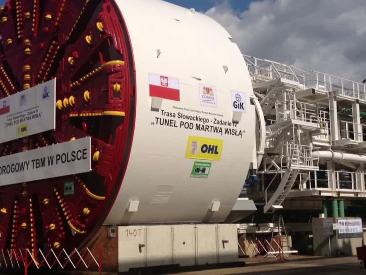Zobacz maszynę TBM, która wydrąży tunel pod Martwą Wisłą.