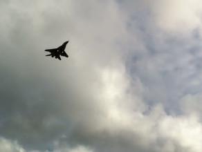 Myśliwiec MiG-29 nad Gdańskiem