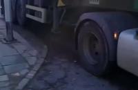 Ciężarówki w Nowym Porcie