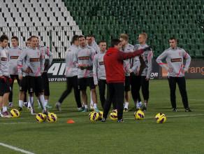 Gdański trening polskich piłkarzy