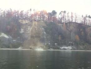 Bunkier zepchnięto z klifu do wody