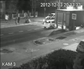 Potrącenie pieszej na al. Hallera w Gdańsku 3 grudnia wieczorem