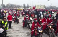 Mikołaje na motocyklach pod PGE Areną w Gdańsku