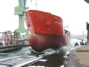 """Wodowanie statku """"Syn Antares"""""""