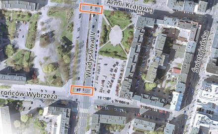 Nowe przejścia dla pieszych w centrum Gdyni