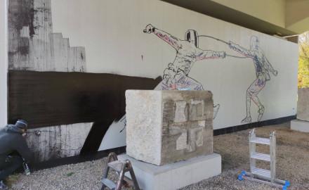 Nowy mural na wiadukcie PKM