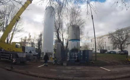 Nowy zbiornik na tlen przy Szpitalu św. Wojciecha