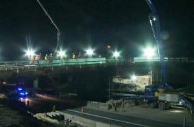 Betonowanie wiaduktu na Trasie Kaszubskiej