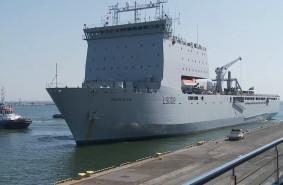 Brytyjski okręt desantowy w Gdyni