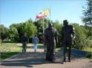 Pomnik Jana Pawła II i Ronalda Reagana
