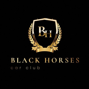 Logo Black Horses Car Club